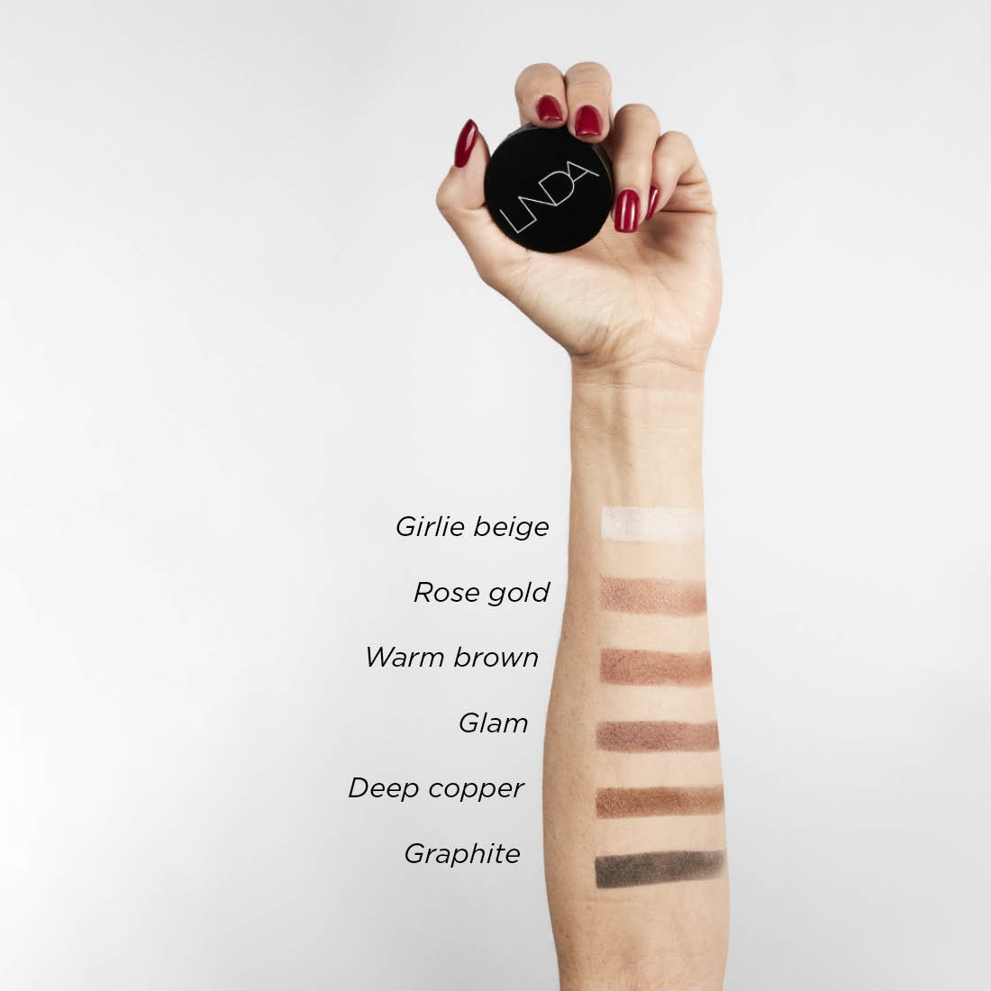 eye shadow swatches